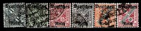 GERMANY 1920 MICHEL OFFICIALS 57-59, 61-62, 64 VALUE 32 EUR - Officials