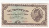 HUNGARY 100 MILLION PENGO 1946 AXF P 124 - Hongrie