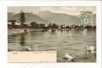 CPA Vevey Débarcadère Et Promenade10092 Ed Zurich Circulé 1907 TBE Tampon Montreux - VS Valais