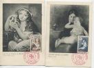 CROIX ROUGE 1954 (YVert N°1006 Et 1007) Cartes Maximum 1er Jour / 1954 - Cartes-Maximum
