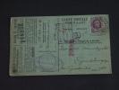 Carte Caisse De Retraite Heusden Naar Gendbrugge 1925 Lijfrentekas Houyoux (ref 153) - 1922-1927 Houyoux