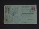 Carte Caisse De Retraite Santhoven Naar Wildert 1925 Lijfrentekas Stempel Gemeente Halle Houyoux (ref 156) - 1922-1927 Houyoux