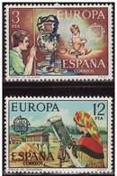España 1976 Edifil 2316/7 Sellos ** Europa CEPT Jarron De Talavera Y Encaje De Camariñas Completa Spain Stamps Espagne - 1931-Hoy: 2ª República - ... Juan Carlos I