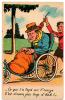 Viel Homme Handicapé Humour Noir Dessin 1930 état Superbe - Men