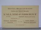 BREZE (49) - HOTEL RESTAURANT VALLADE-PARRAULT - FACTURE - France