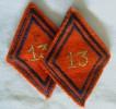 Insigne De Cadre Du 13 ème RA Régiment D´Artillerie / Losange Modèle 1945 - Armée De Terre