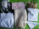 Lot De Dentelles-monogramme-port E Serviette-rideau Au Filet-crepe Etc.. Lot4..- - Laces & Cloth