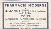 Buvard Pharmacie Moderne  B Jamet A Nemours Tout Pour Votre Sante - Chemist's