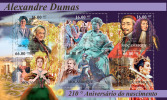 MOZAMBIQUE 2012 - Alexander Dumas. Official Issue - Unclassified