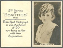BAT BRITISH AMERICAN TOBACCO CIGARETTE CARD 1926 - 2ND SERIES BEAUTIES FAMOUS MOVIE STAR ETHEL CLAYTON - CARD NO (32) - Cigarette Cards