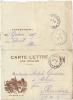 CORRESPONDANCE MILITAIRE - FM -   CARTE LETTRE  Nos Braves Poilus - Marcophilie (Lettres)