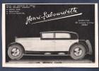 Pub 1928 Automobile Henri Labourdette Carrossier  Automobiles Voiture La Jockey Club - Publicités