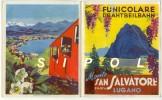 Dépliant Accordéon 3 Volets Funicolare Monte San Salvatore - Lugano 4 Langues  Horaires,tarifs 1957 - Europe