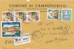SICILIA CAMPOFIORITO (PALERMO) - TEMATICA COMUNI - ARALDICA 1991 - Affrancature Meccaniche Rosse (EMA)