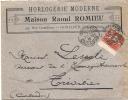 Enveloppe Publicitaire - Horlogerie Moderne Maison ROMIEU  Avec Sa Facture  Illustrée De 1912 HONFLEUR  TTB - 1900 – 1949