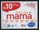 Bolivia 2012. Tarjeta Pre-Pago ENTEL. Día De Las Madres. Feliz Día Mamá. Corazones. - Culture