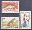 French Somali Coast  271-3  **  FAUNA  WILD  ANIMALS - French Somali Coast (1894-1967)