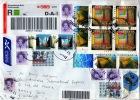Enveloppe Avec 21 Timbres Oblitérés : NLG 21 - 1980-... (Beatrix)