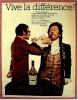 Reklame Werbeanzeige MARTELL  -  Vive La Difference  , Von Ca. 1969 - Andere Sammlungen