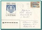 1990 Lithuania, LIETUVOS RESPUBLIKOS PASTAS Machine Cancel On Cover To Yugoslavia, Lighthouse Stamp - Lituania