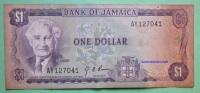 Geldschein Banknote JAMAICA 1 DOLLAR 1960 Papermoney. - Jamaica