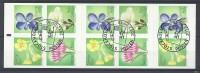 Suède Carnet C2868 Oblitéré émis En 2012 Fleurs - Carnets