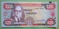 Geldschein Banknote JAMAICA 20 DOLLAR 1991 Papermoney. - Jamaica