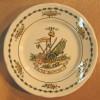 ASSIETTE 1789 A LA BASTILLE / IRONSTONE TABLEWARE DISHWASHER DETERGENT PROOF PATENTED DESIGN 4-89 INDERGLAZE - Non Classés