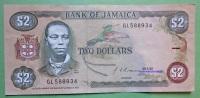 Geldschein Banknote JAMAICA 2 Dollars 1992 Papermoney. - Jamaica