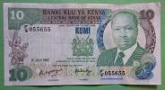 Geldschein Banknote Kenya 10 Shillings 1987 Papermoney. - Kenya