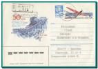 1990 Lithuania, Trans-Polar Flight Stationery Cover, Ex-USSR Uprate Franking, Vilnius Cancel To Yugoslavia - Lituania