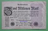Geldschein Banknote GERMANY 2 Millionen Mark 1923  Papermoney. - 2 Millionen Mark
