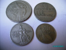 RUSSIA  USSR 1917-1967  OCTOBER  REVOLUTION COMMEMORATION SET 50, 20, 15, 10 KOPEKS - Russie