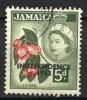Jamaica 1962, Queen Elizabeth II - Ackee, Overprint: Independence (o), Used - Jamaica (1962-...)