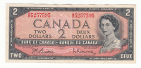 CANADA 2 DOLLAR 1954 (Signature Beattie-Rasminsky 1961-72) VF++ P 76b 76 B - Canada