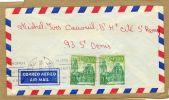 Enveloppe Cover Brief Correo Aereo Air Mail à St Denis France - Espagne