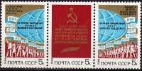 Friedens-Politik 1984 Sowjetunion 5386/8 ZD ** 1€ Demonstrationen Weltkugel Staatswappen Flag Se-tenant Of USSR CCCP SU - 1923-1991 USSR