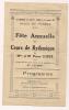 ### Programme 4 Volets , Fête Annuelle Des Cours De Rythmique , Juin 1929 , Niort  , Frais Fr : 1.55€ - Programas