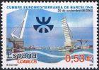 España 2005 Edifil 4197 Sello ** Cumbre Euromediterranea Puerto De Barcelona Y Logotipo Spain Stamps Timbre Espagne - 1931-Hoy: 2ª República - ... Juan Carlos I