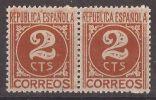 ES731-LA018TSC.España.Spa In .Espagne. CIFRA Y PERSONAJES.1936/38. (Ed 731**par) Sin Charnela,. MAGNIFICA - Sin Clasificación