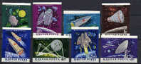 Hungary 1964 Space Set Of 8 Imperf. MNH -scarce- - Europe