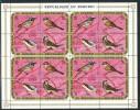 Burundi    - Mi.Nr.      690 - 693     - Gestempelt -    Viererblocks 1x Gefaltet - 1970-79: Gebraucht
