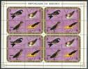 Burundi    - Mi.Nr.      698 - 701     - Gestempelt -    Viererblocks 1x Gefaltet - 1970-79: Gebraucht