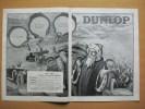 Pub Papier 1926 Pneu DUNLOP Dessin Frock Pere Noel Voiture Automobile Automobiles Dos Parfum VIOLET Flacon Chypre Poupre - Advertising