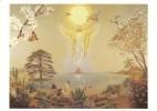 CPM Carte ésotérique Spiritualité Mythologie 15x10,5 Cm / Dieu Bouddha Pyramide Licorne - Contes, Fables & Légendes