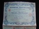 """Titre De 10 Actions Privilégiées""""Aciéries Nouvelles""""Bruxelles 1909 Bon état,avec Tous Les Coupons - Industrie"""