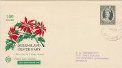 AUSTRALIA 1960 FDC 100 Years QUEENSLAND Centenary. - Brieven En Documenten