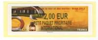 LISA De Brest, Tram Et Voilier, Très Belle Illustration. Petit Paquet Prioritaire International - 2010-... Viñetas De Franqueo Illustradas