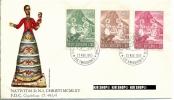 1965, FDC, Weihnachten,487+488+489 Gest - FDC