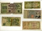 LOT DE 8 BILLETS D´EUROPE TRES ABIMES . - Monnaies & Billets